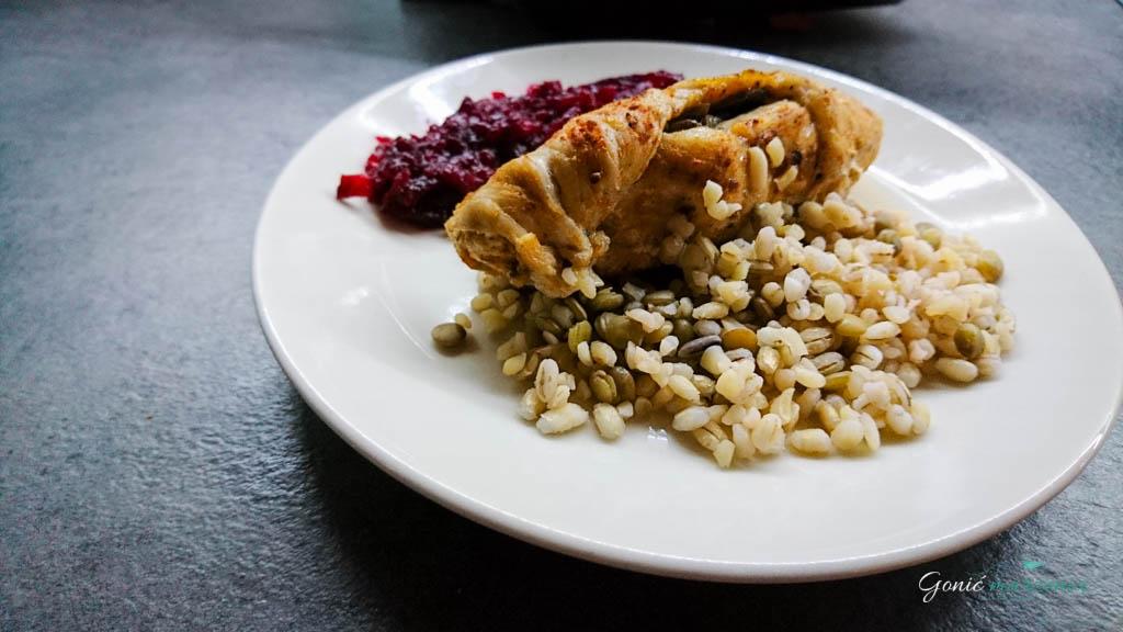 dietetyczny devolay z pieczarkami